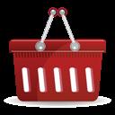 Basket, Red, Shopping icon