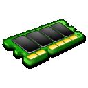 ram, green, microchip, memory icon