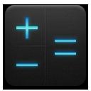 And, Black, Blue, Calculator icon