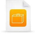 orange, file, document, paper icon
