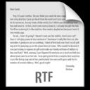 z File RTF icon