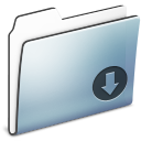 drop,folder,graphite icon