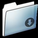 smooth, folder, drop, graphite icon