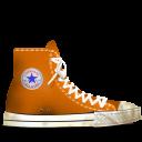 dirty, converse, orange icon