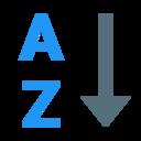 alphabetical sorting az icon
