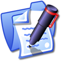 paper, blue, folder, file, document icon