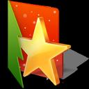 favorite, folder, star, christmas icon