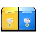 mail box, brevlada, swedish icon