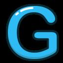 letters, alphabet, blue, letter, g icon