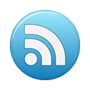 rss, feed, blue, subscribe icon