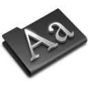 Fonts Black icon