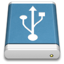 usb, blue, drive, external icon
