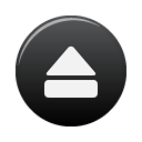 Black, Button, Eject icon