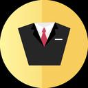 tuxedo, suit, consult icon