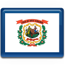 virginia, west, flag icon