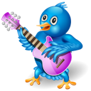 music, twitter, guitar icon