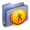 Blue, Folder, Public icon