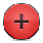 red, button, add icon