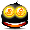 face, emotion, money, coin, currency, emot, avatar, cash icon