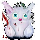 rabbit, animal, murder, pink icon