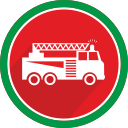 logistics, truck, vehicle, fire, flame, car icon