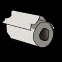 toilet,paper,file icon