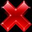 del, stop, close, delete, cancel, remove, no icon