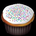white,cupcake icon