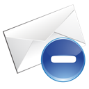 blue, email, delete icon