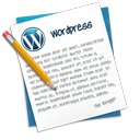 write, blog, edit, note, text, blog, file, writing, wordpress, document icon