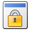 locked, file icon