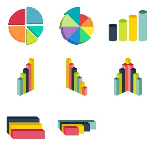 3D Infographics icon sets preview