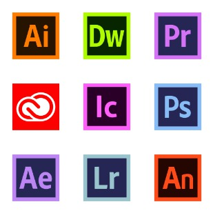 Adobe Creative Cloud icon sets preview