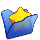 folder,blue,favourite icon