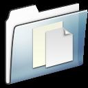 folder, smooth, graphite, documente icon