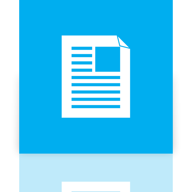 document, mirror icon