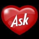 social, media, ask icon