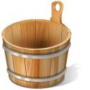 bucket, corbeille, vide icon