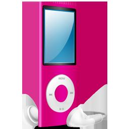 ipod, pink, pink on, nano icon