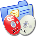 dvdr, folder, blue, cdr icon