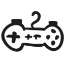 Games control hand drawn tool icon