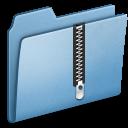blue,zip icon