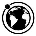 Moon orbit around Earth icon