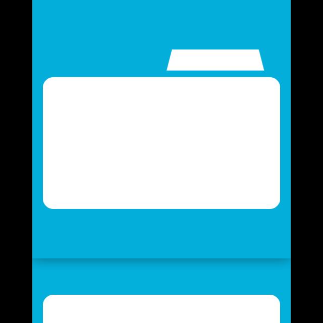 blank, folder, mirror icon