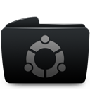 Black, Folder, Ubuntu icon