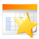 star, bookmark, appointment, calendar icon