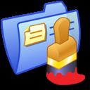 Folder Blue Paint icon