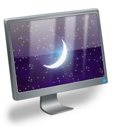 sleeping, computer icon