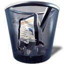 full, trashcan icon