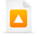 file, orange, document, paper icon